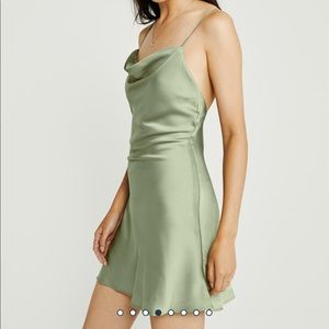 Satin slip mini dress